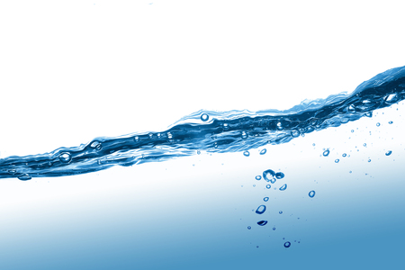 Bubbles in Water liquid Blue Beautiful abstract background
