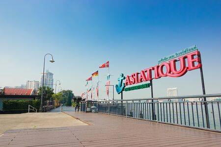 Bangkok, Thailand - December 11, 2017: ASIATIQUE The Riverfront Bangkok large riverside attractions Including shopping, dining, activities in the same place.