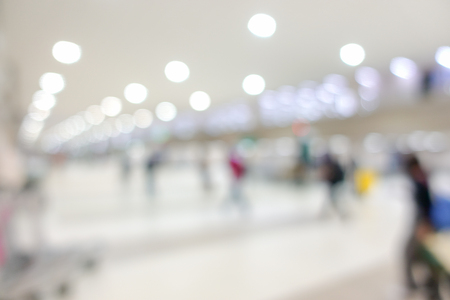 Abstract blur many visitors of the airport terminal Reklamní fotografie