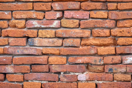 Close up old brick wall for background texture