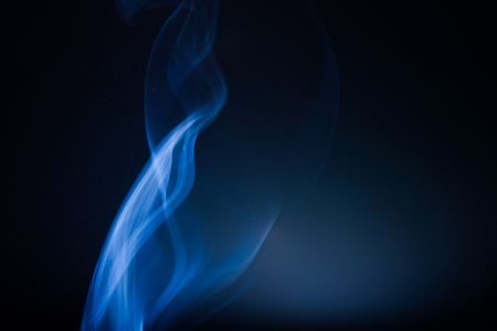 Abstract beautiful smoke on a black background