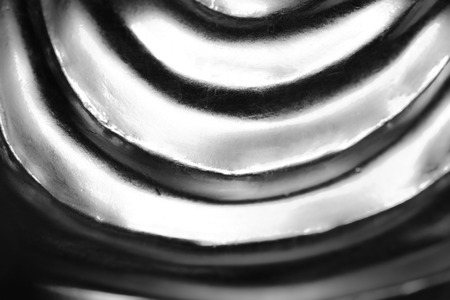 Abstract Silver background, glossy metal that is a luxurious fabric is wave Standard-Bild - 103383733