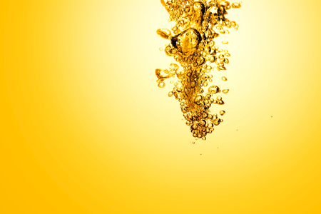 Bubbles in Water Oil, gold Beautiful abstract background