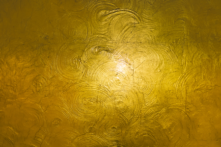 golden wall roughness for abstract background Texture Reklamní fotografie