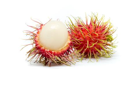 Rongrien Rambutan on white, Fruit in Thailand Reklamní fotografie - 113245816