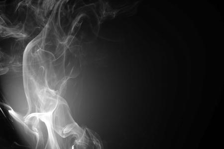 Abstract beautiful smoke on a black Standard-Bild - 115375881