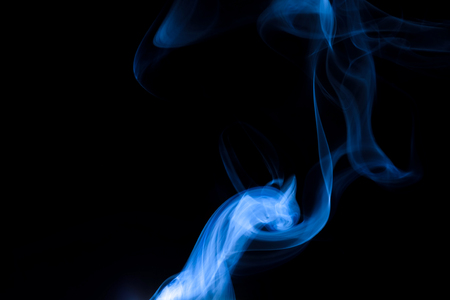 Abstract beautiful smoke on a black