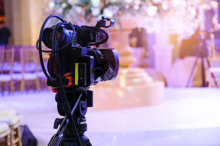 Video camera recording at television broadcast events