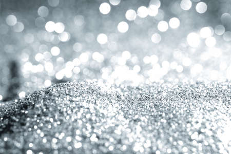 Texture background abstract black and white or silver Glitter and elegant for Christmas Standard-Bild