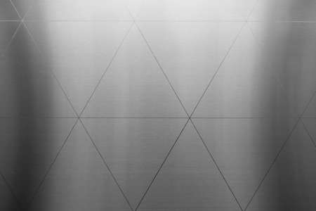 Silver or aluminum triangle shiny wall abstract background texture, Beatiful Luxury and Elegant