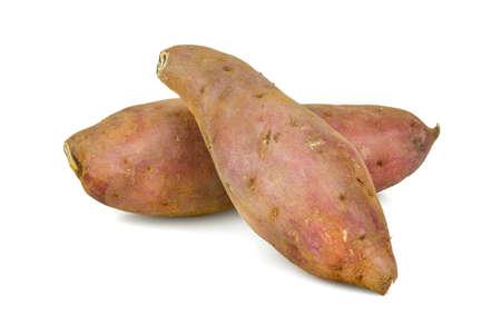 Japanese Sweet Potato isolated on white background Archivio Fotografico