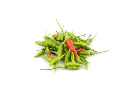 Bird pepper chili isolated on white background