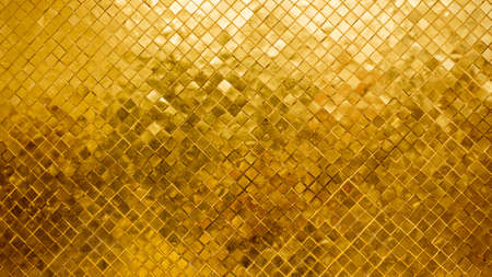 Gold tile mosaic wall glitter background texture Luxury and Elegant