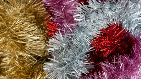 Texture background metallic gold silver pink gold and red decoration for christmas and new year