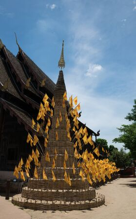faithful: Wat Chedi Luang ,Chiang Mail.Long history 500 years from Kingdom Lanna to nowaday ,Chiang Mai Province,Thailand.People still  faithful in their history.