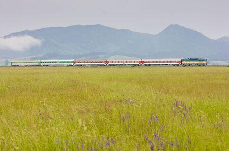 passenger train, Strazovske Vrchy, Slovakia photo