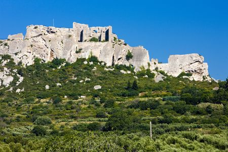 les: ruins of castle, les Baux-de-Provence, Provence, France