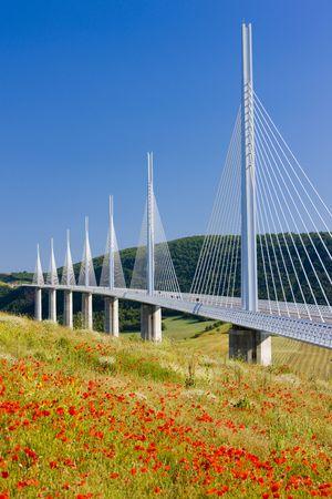 viaducts: Millau Viaduct, Aveyron Département, France