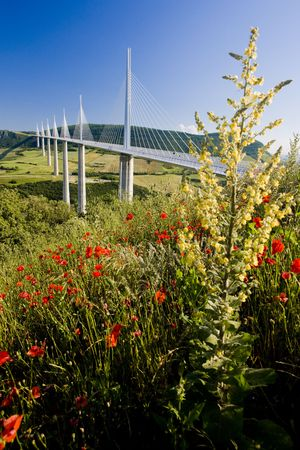 millau: Millau Viaduct, Aveyron Département, France