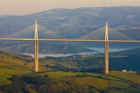millau: Millau Viaduct, Aveyron D�partement, France Editorial