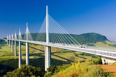 viaduct: Millau Viaduct, Aveyron D�partement, France Editorial