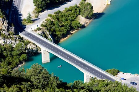 St Croix Lake, Les Gorges du Verdon, Provence, France Stock Photo - 5202130