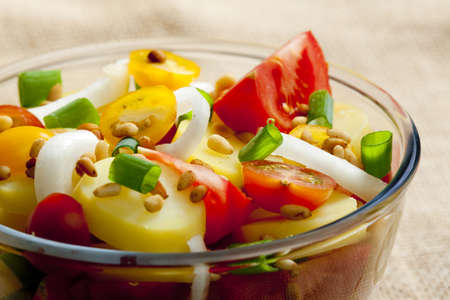 alimentation: French potato salad Stock Photo