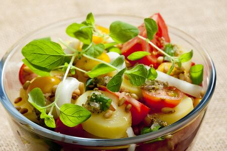 alimentation: French potato salad Stock Photo