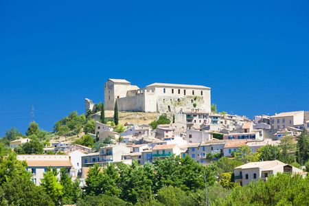 les: Greoux-les-Bains, Provence, France Stock Photo