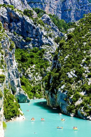 gorges: St Croix Lake, Les Gorges du Verdon, Provence, France Stock Photo