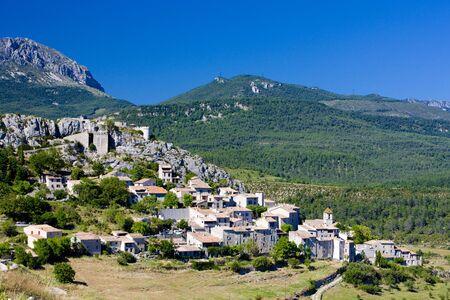 var: Trigance, Var Departement, Provence, France
