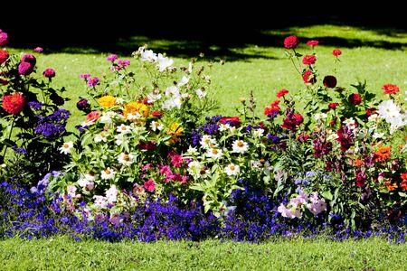 castile leon: garden, Segovia Province, Castile and Leon, Spain Stock Photo