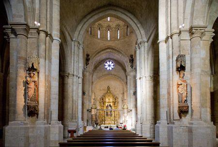 zamora: interior of church of Colegiata de Santa Maria, Toro, Zamora Province, Castile and Leon, Spain