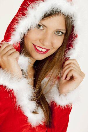 portrait of female Santa Claus photo