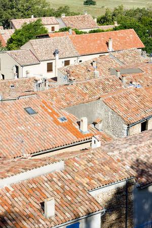 var: Aiguines, Var Departement, Provence, France Stock Photo