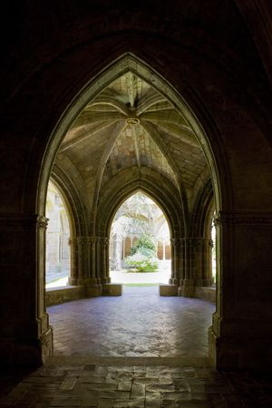 abbeys: interior of Monastery of Veruela, Zaragoza Province, Aragon, Spain Editorial