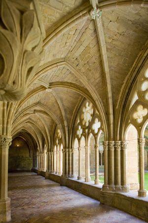 friaries: interior of Monastery of Veruela, Zaragoza Province, Aragon, Spain Editorial