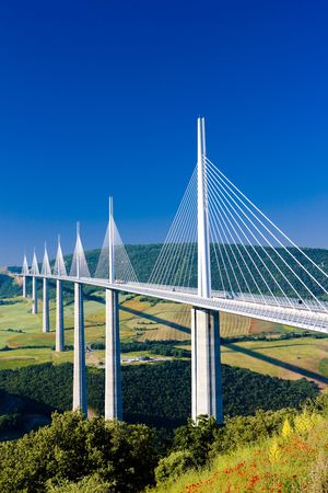 Millau Viaduct, Aveyron Département, France Editoriali