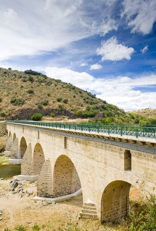 bridge over Sabor River, Douro Valley, Portugal