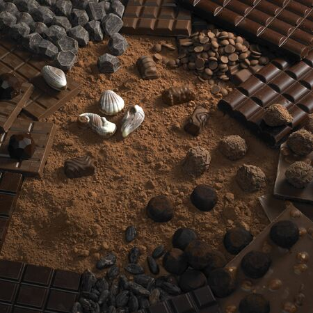 pralines: chocolate still life