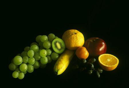 vida saludable: bodegón de frutas