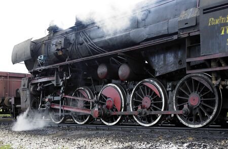 traction engine: steam locomotive (33-326), Dubrava, Bosnia and Hercegovina Stock Photo