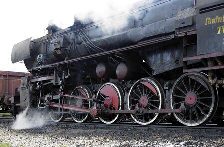 steam traction: steam locomotive (33-326), Dubrava, Bosnia and Hercegovina Stock Photo