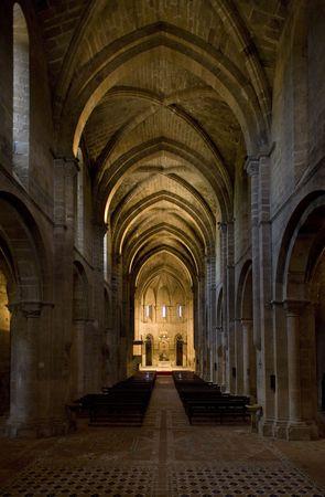 interior of Monastery of Veruela, Zaragoza Province, Aragon, Spain