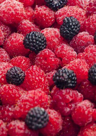 raspberries and blackberries photo