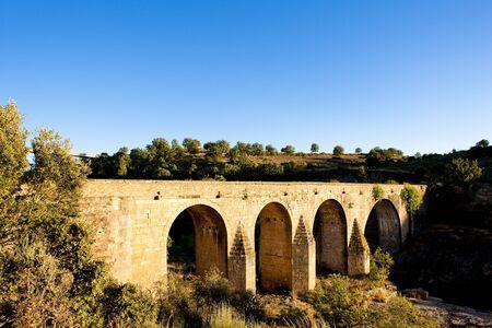 castile leon: bridge near Cerralba, Castile and Leon, Spain Stock Photo