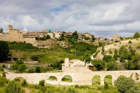 castile leon: Pedraza de la Sierra, Segovia Province, Castile and Leon, Spain Stock Photo