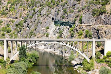 viaducts: railway and road viaducts in Douro Valley, Portugal