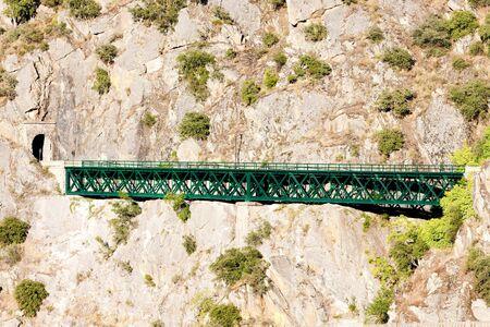 viaducts: railway viaduct near Tua, Douro Valley, Portugal Stock Photo