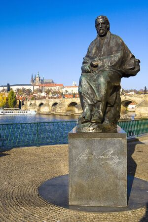 statue of Bedrich Smetana, Prague, Czech Republic photo